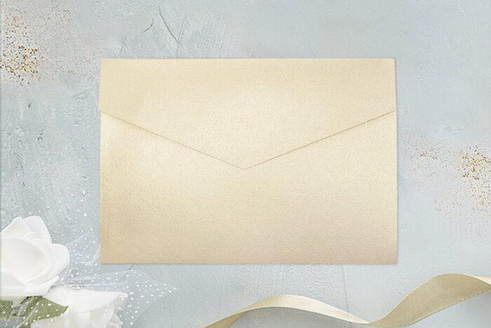 rozkładany folder brokatowy ecru