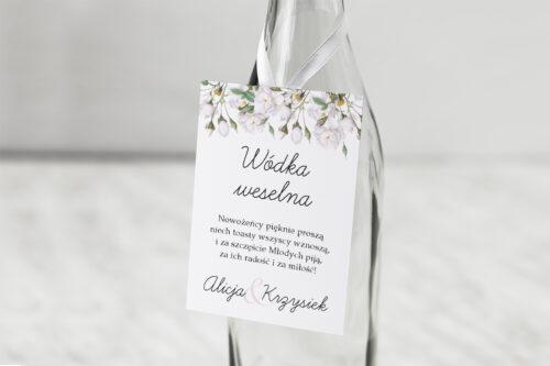 Zawieszka na alkohol Kwiaty Vintage – Białe Róże
