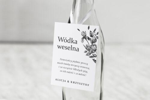 Zawieszka ślubna na alkohol - Rysunkowe kwiaty DL - Róże