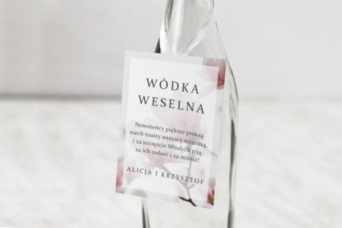 Zawieszka na alkohol do zaproszeń Fotograficzne Kwiaty - Subtelna Magnolia