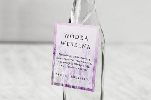 Zawieszka na alkohol do zaproszeń Fotograficzne Kwiaty - Pole Lawendowe