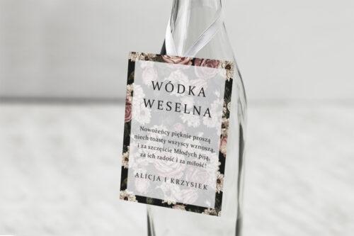Zawieszka na alkohol do zaproszeń Fotograficzne Kwiaty - Rysunkowe Kwiaty
