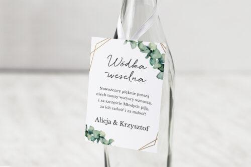 Zawieszka na alkohol do zaproszeń jednokartkowe – Eukaliptus