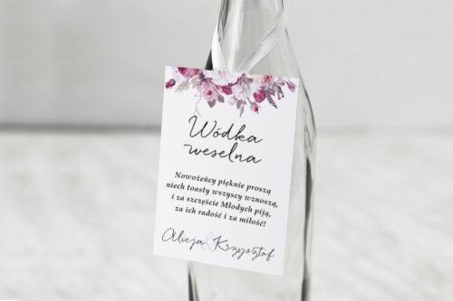 zawieszka na alkohol z kwiecistą kompozycją kwiatową