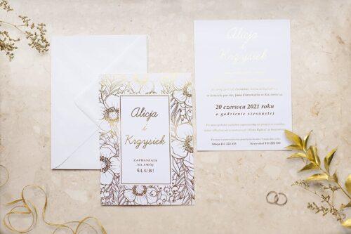 Zaproszenie ślubne Kwiecista ramka - Anemony
