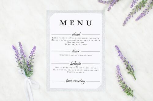 menu weselne brokatowe