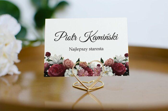 winietka-slubna-do-zaproszenia-boho-eleganckie-czerwono-bialy-bukiet-papier-matowy-podstawka-zloty-trojkat