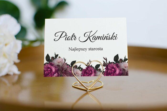 winietka-slubna-do-zaproszenia-boho-eleganckie-bordowe-roze-papier-matowy-podstawka-zloty-trojkat