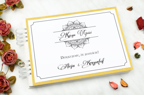 księga gości weselnych brokatowa