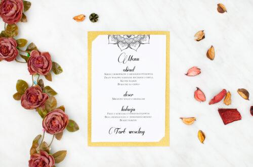 menu brokatowe rozeta