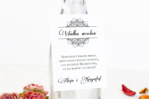 zawieszka na alkohol ornamentowa rozeta