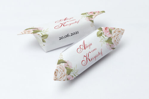 Krówki ślubne 1 kg - Angielskie Róże – Pudrowe