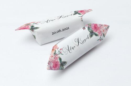 Krówki ślubne 1 kg - Angielskie Róże – Różowe i Herbaciane