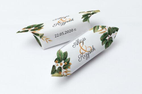 Krówki ślubne 1 kg - Botaniczne Jednokartkowe - Jesienna kompozycja