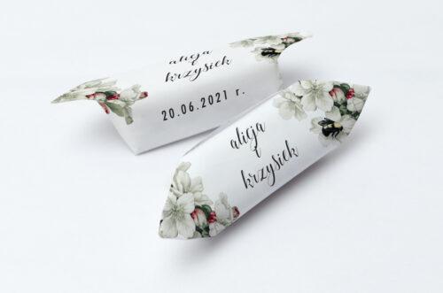 Krówki ślubne 1 kg - Botaniczne Jednokartkowe - Kwiat Jabłoni