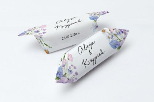Krówki ślubne 1 kg - Eleganckie kwiaty - Polny wianek
