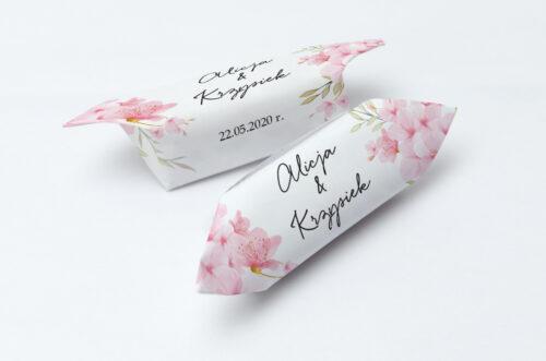 Krówki ślubne 1 kg - Eleganckie kwiaty - Kwiaty wiśni