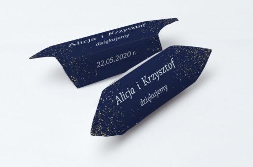 Krówki ślubne 1 kg - Kontrastowe z nawami - Niebo Pełne Gwiazd