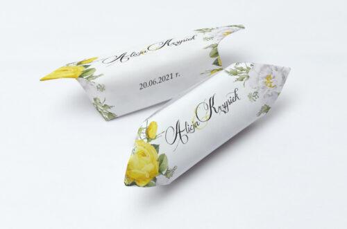 Krówki ślubne 1 kg do Kwiaty&Złoto - Żółte róże