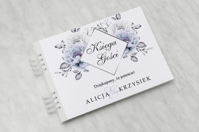ksiega-gosci-slubnych-geometryczne-kwiaty-blekitne-kwiaty-papier-satynowany-dodatki-ksiega-gosci