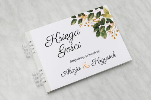 Księga gości ślubnych - Botaniczne Jednokartkowe - Jesienna kompozycja