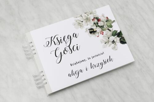 Księga gości ślubnych - Botaniczne Jednokartkowe - Kwiat Jabłoni