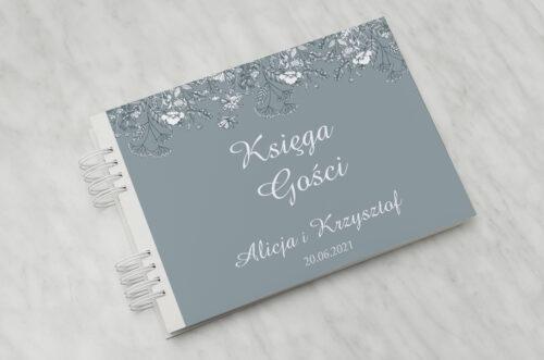 Księga gości ślubnych - Duże Inicjały - Kwiatuszki Polne