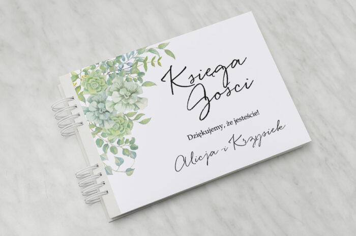 ksiega-gosci-slubnych-eleganckie-kwiaty-sukulenty-papier-matowy-dodatki-ksiega-gosci