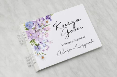 Księga gości ślubnych - Eleganckie kwiaty - Polny wianek