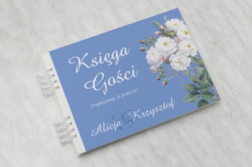Księga gości ślubnych - Kwiatowe Nawy - Białe róże