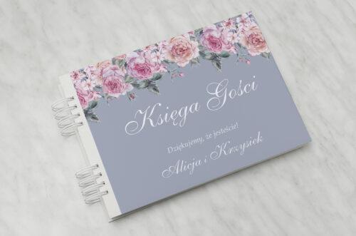 Księga gości ślubnych - Kwiatowe Nawy - Różowe różyczki