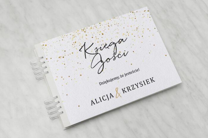 ksiega-gosci-do-zaproszenia-minimalistyczne-ze-zlotem-zlote-kropeczki-papier-matowy-dodatki-ksiega-gosci