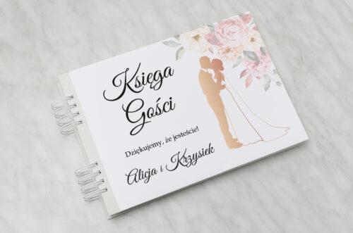 Księga gości ślubnych - Z parą młodą - Pocałunek