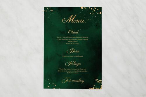 Menu weselne pasujące do zaproszenia Eleganckie - Szmaragdowe