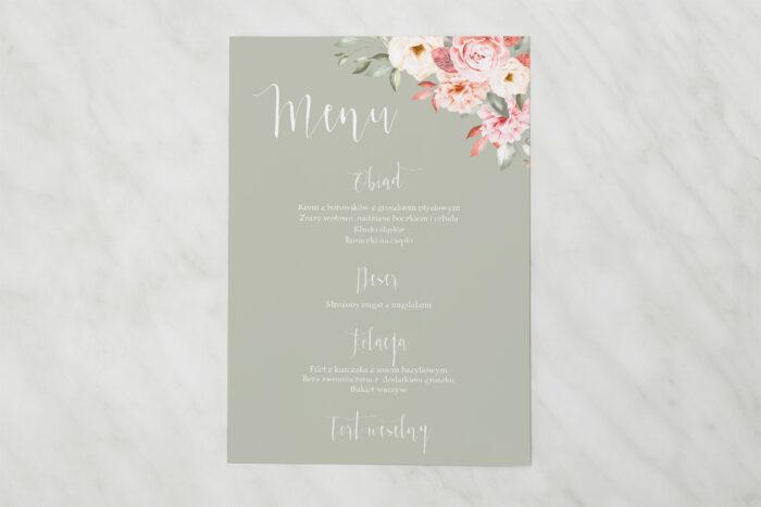 menu-weselne-akwarelowe-bukiety-ogrodowe-roze-na-ciemnym-tle-papier-satynowany