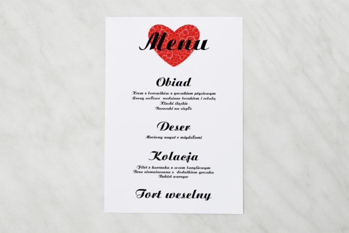 menu-weselne-vintage-black-white-czerwone-papier-satynowany