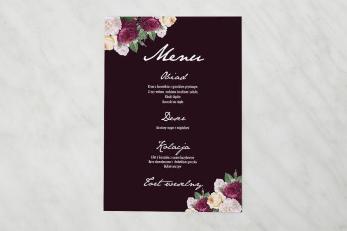 menu-weselne-pasujace-do-zaproszenia-kontrastowe-z-kwiatami-kolorowe-roze-papier-matowy