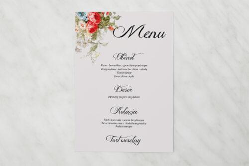 Menu weselne - Kwiatowe Gałązki - Białe Kalie