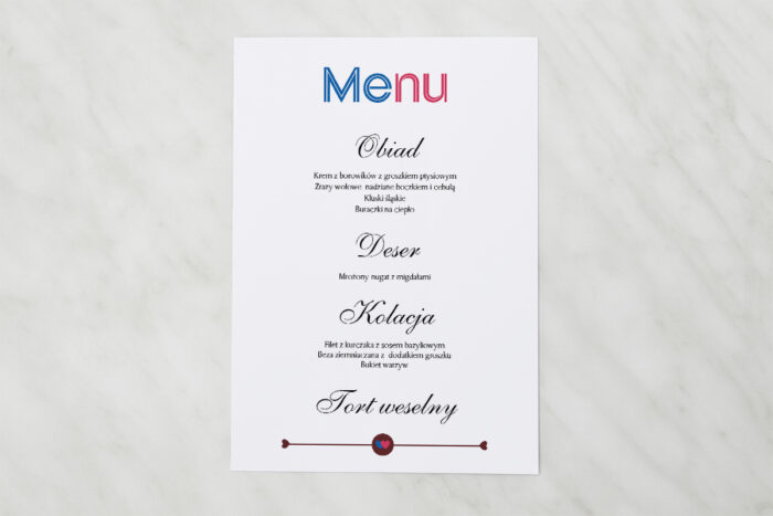 menu-weselne-red-blue-powoz-papier-satynowany