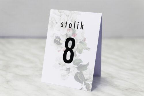 Numer stolika pasujący do zaproszenia Botaniczne Jednokartkowe - Kwiat Jabłoni