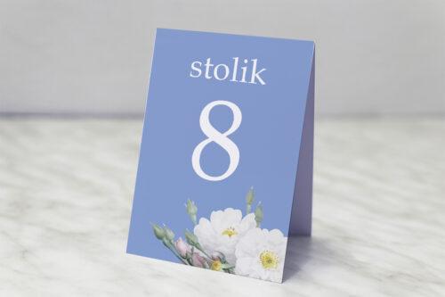 Numer stolika pasujący do zaproszenia Kwiatowe Nawy - Białe róże