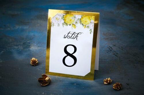 Numer stolika Kwiaty&Złoto - Żółte róże