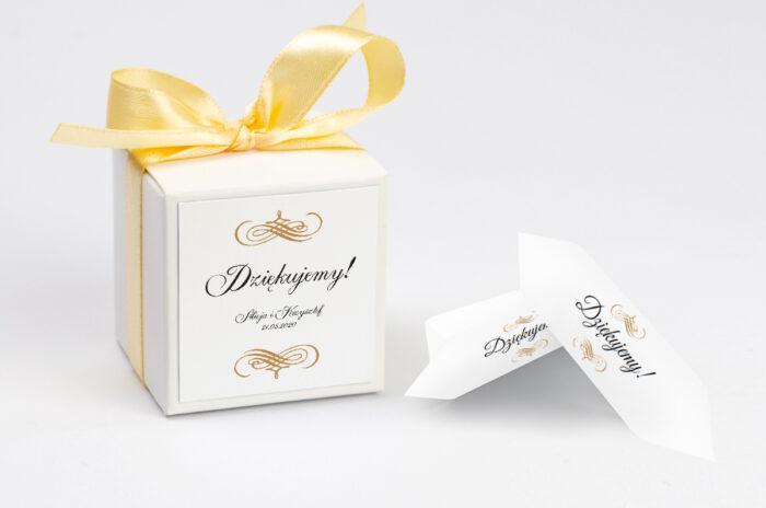 Pudełeczko z personalizacją - Eleganckie ślubne 3D - Złote