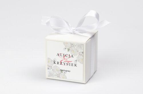 Ozdobne pudełeczko na krówki z personalizacją - Z parą młodą - Tańczący Walca