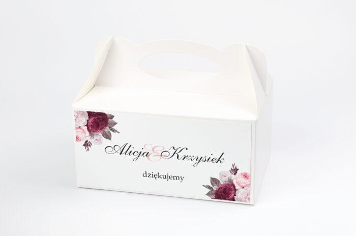 ozdobne-pudelko-na-ciasto-geometryczne-kwiaty-amarantowy-bukiet-papier-satynowany-pudelko-