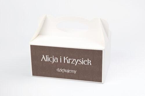 Ozdobne pudełko na ciasto FotoZaproszenie wzór 2a