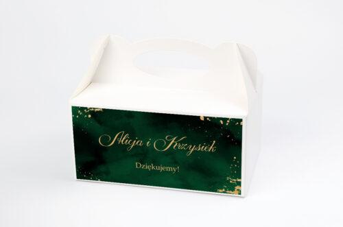 Ozdobne pudełko na ciasto - Eleganckie - Szmaragdowe