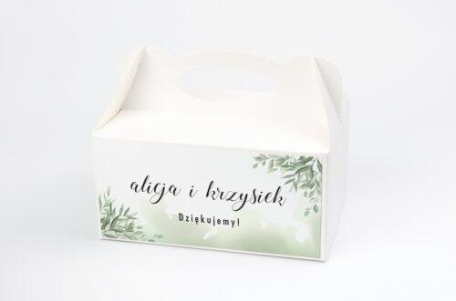 Ozdobne pudełko na ciasto - Botaniczne Jednokartkowe - Ruskus