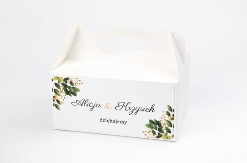 Ozdobne pudełko na ciasto - Botaniczne Jednokartkowe - Jesienna kompozycja
