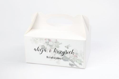 Ozdobne pudełko na ciasto - Botaniczne Jednokartkowe - Kwiat Jabłoni